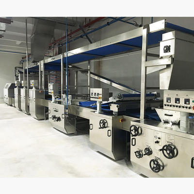 Soft dough overhead conveyor & kibbler soft biscuit production line