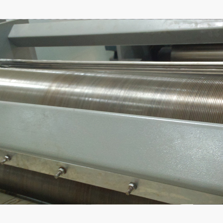 Potato chips W-shape forming machine wavy gauge rolls