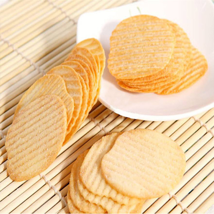 Golden Bake Automatic biscuit making plant wavy shape potato hard biscuit line