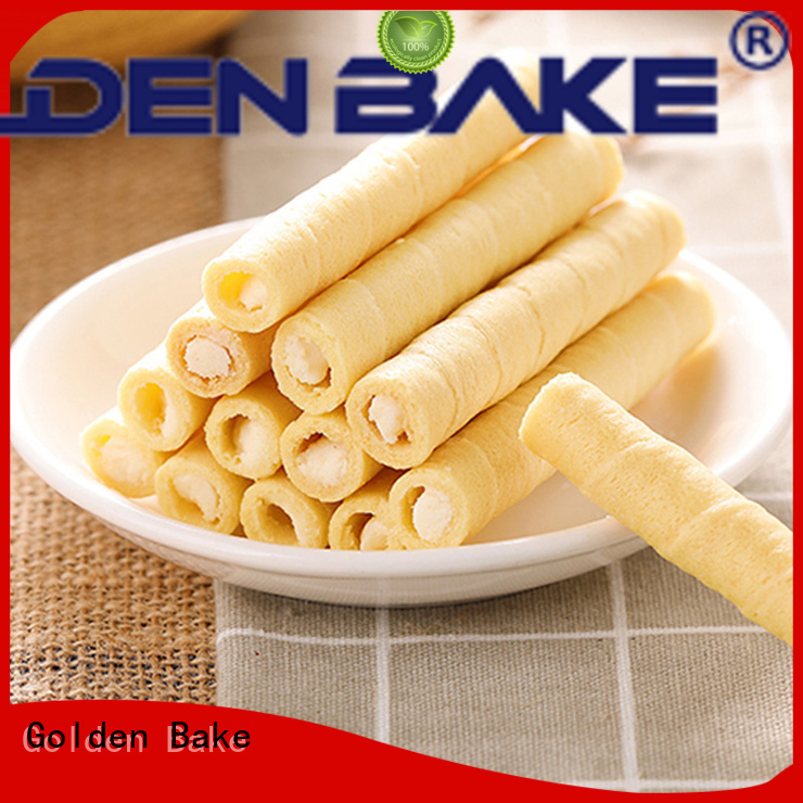 Golden Bake professional wafer roll machine manufacturer for egg roll making