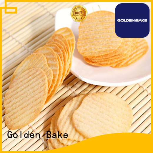 Golden Bake professional automatic biscuit making plant factory for w-shape potato biscuit making