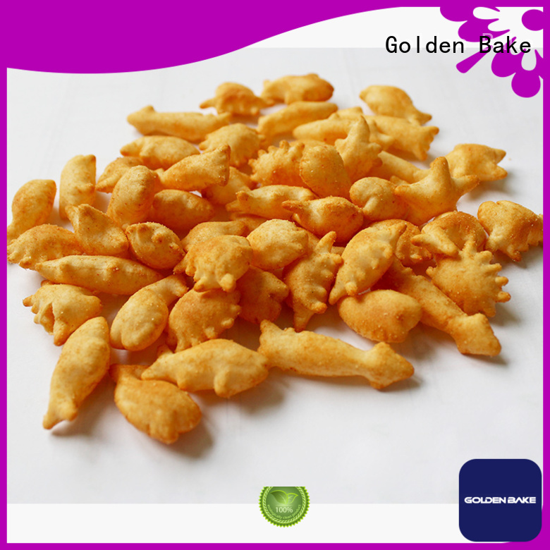 Golden Bake top quality bakery cookie machine supplier for gold fish biscuit production