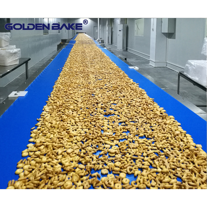 Straight type cooling conveyor