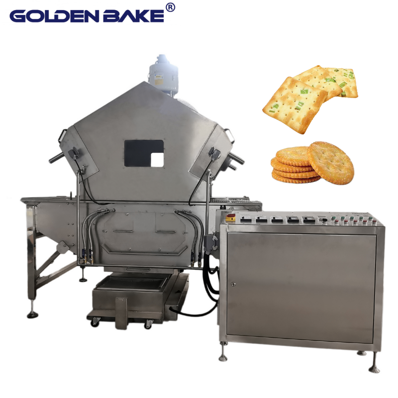 Oil sprayer and oil filter for soft and hard biscuit production line