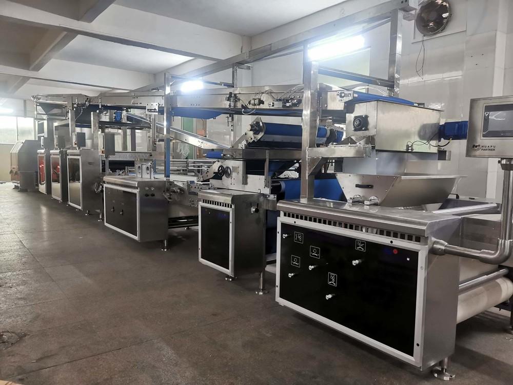 Soft dough overhead conveyor & kibbler soft biscuit production line