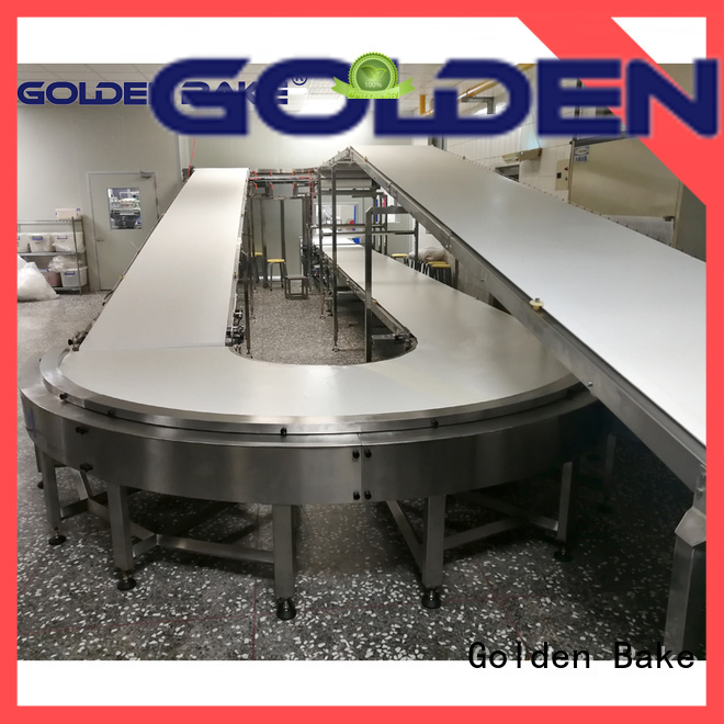 Golden Bake turning conveyor supplier for cooling biscuit